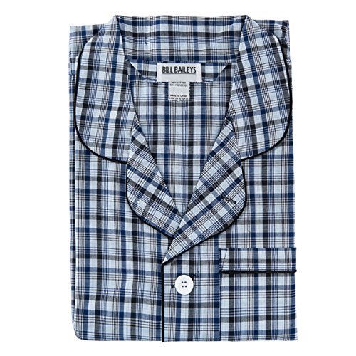 Bill Baileys Sleepwear Men's Broadcloth Woven Pajama Set (Small, (Bailey Mens Clothing)