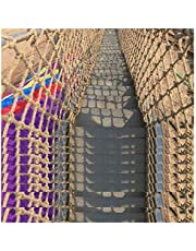 Child Safety Stairs Net Stairs Handrail Hemp Rope Net Decorative Ceiling Netting Clothes Net Climbing The Net 8mm*10cm Fall Protection Safety Net(Size:3 * 5m (10 * 16ft))