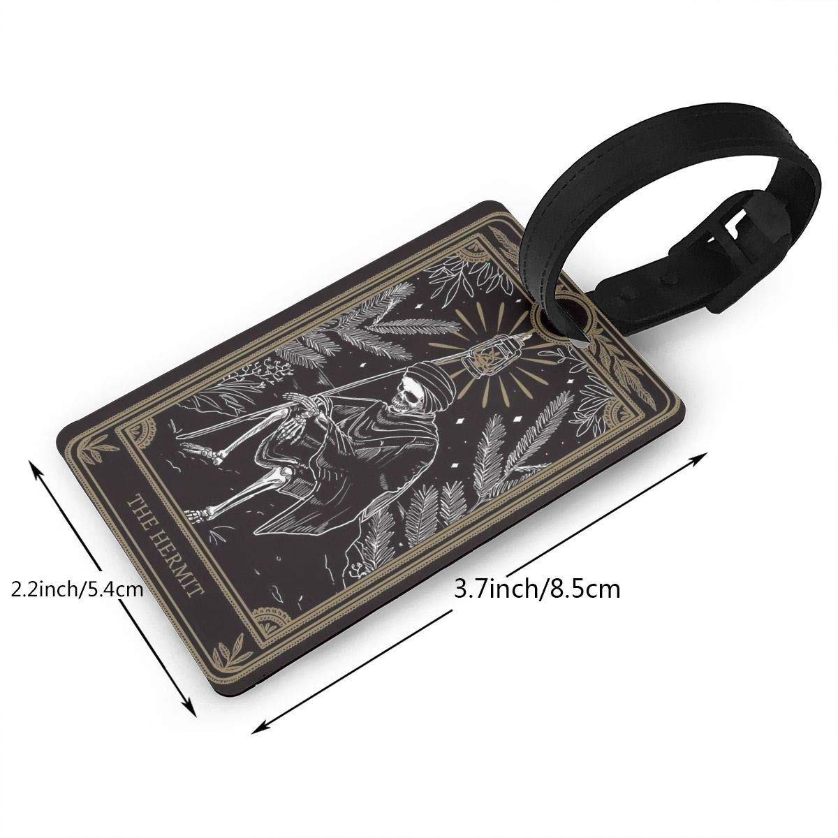 2 Pack Luggage Tags Tarot Cards The Hermat Handbag Tag For Travel Tags Accessories