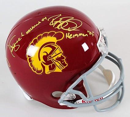 942b9a11b Amazon.com  Matt Leinart   Reggie Bush Signed Helmet USC Trojans ...