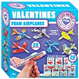 JOYIN 28 Pack Cards, Valentine's Greeting Cards for Kids with Foam Airplanes Valentine Classroom Exchange Party Favor Toy