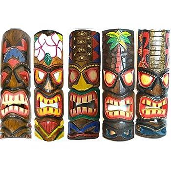Amazon new 20 large set of 5 polynesian hawaiian tiki style 20 large set of 5 polynesian hawaiian tiki style wall masks stopboris Gallery