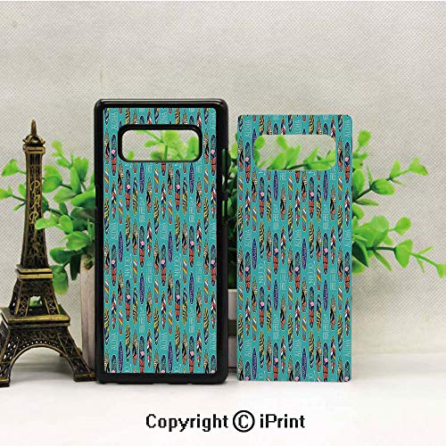 Note 8 Case for Girls,Aloha Hawaii Live Free Ocean Water Sports Inspired Pattern Coastal Inspirations Decorative Galaxy Note 8 Case, Anti Slip Note 8 Case Dust Scratch Shock Resistance Protective ()