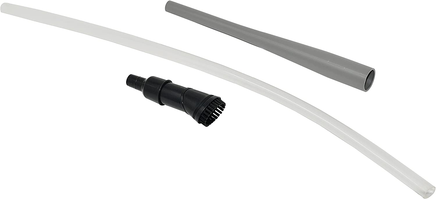 Home-X Vacuum Accessory Kit | Flexible Tube Extender with Detachable Angled Swivel Head Brush and Straight Extension Tube
