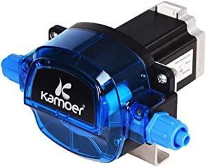 Peristaltic Pump 24v High Flow Kamoer DIY self-Priming dosing Pump Adjustable Flow with High-Precision Stepper Motor(KHL,Silicone Tubing 7.9×12.7mm,0~1800ml/min)
