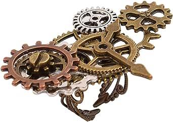 GRACEART Vendimia Steampunk Engranajes Reloj Broche Alfiler