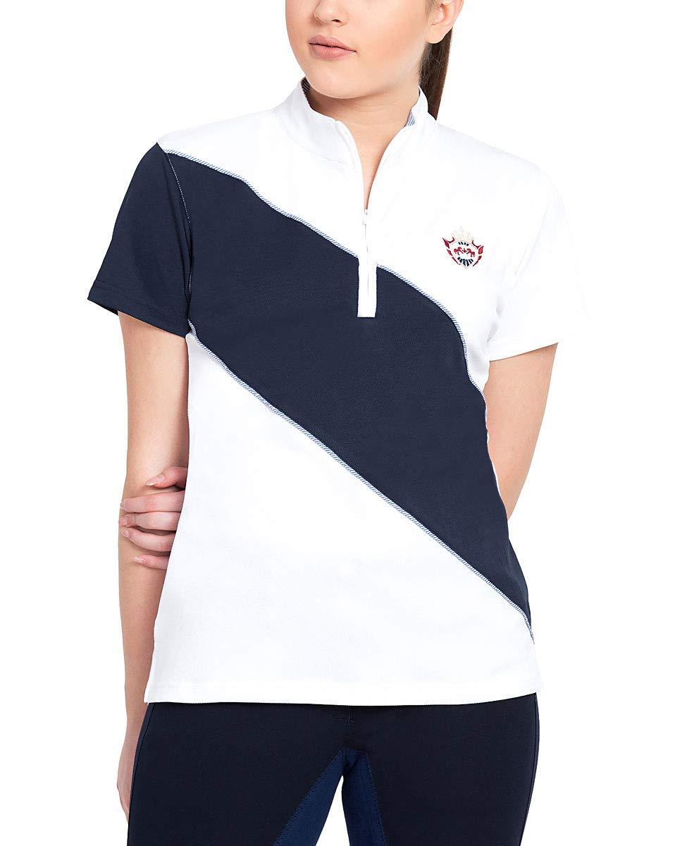 Danvers半袖シャツ Large White/EcNavy B0774GL9J4