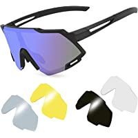 KNMY Gafas de sol deportivas polarizadas, protección UV400 para hombres y mujeres, gafas…