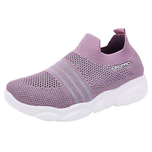 Damen Sneaker Stretch Halbschuhe Schnürung Turnschuhe Laufschuhe Freizeitschuhe