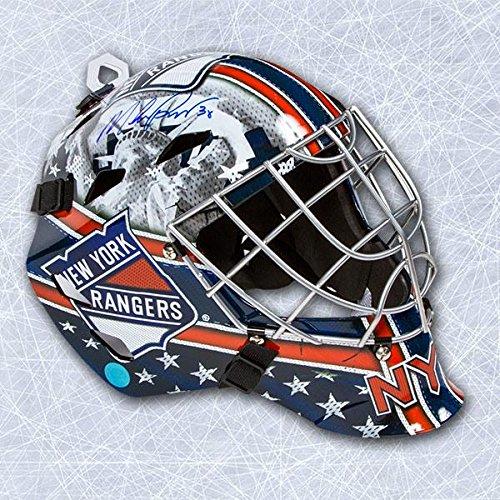 Mike Richter New York Rangers Autographed Franklin SX Comp GFM Goalie Mask - Autographed NHL Helmets and (Signed Goalie Mask)