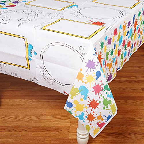 Art Party Activity Table Cover (Paintbrushes And Party)