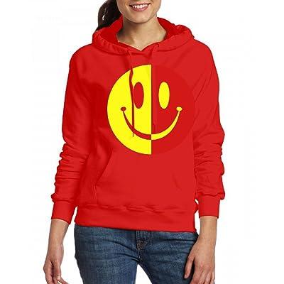 2 Colour Smiley Womens Hoodie Fleece Custom Sweartshirts