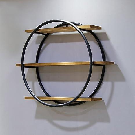 SKC Lighting-perchero Vintage de madera maciza de hierro ...