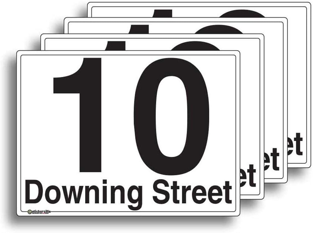 Etichette in vinile A6 4 pezzi personalizzabili per bidoni della spazzatura con numero civico e nome della strada