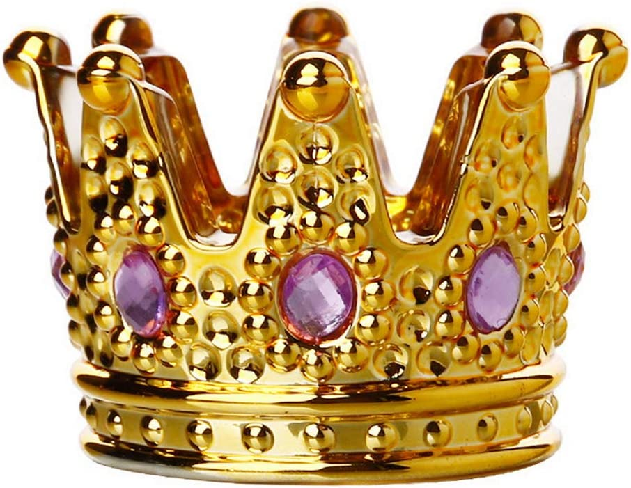 Kepfire Creative Crystal Glass Ashtray Mini Crown Shaped European Personality Ashtray Bar Study Coffee Office Decorative Gold Purple Diamond