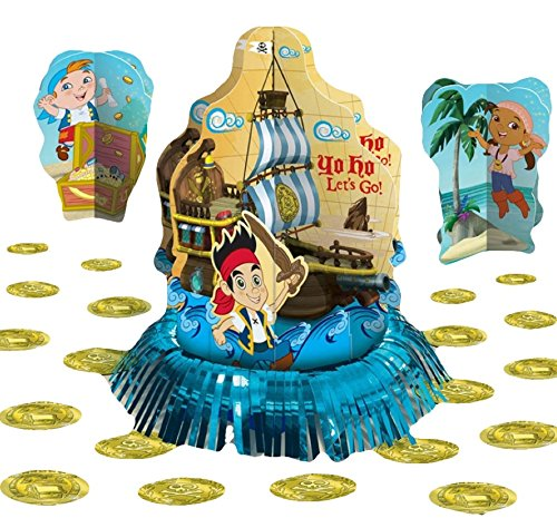 Amscan AMI 281288 Jake and the Neverland PiratesTable Decoratging Kit, AMI 281288 1, Multicolored