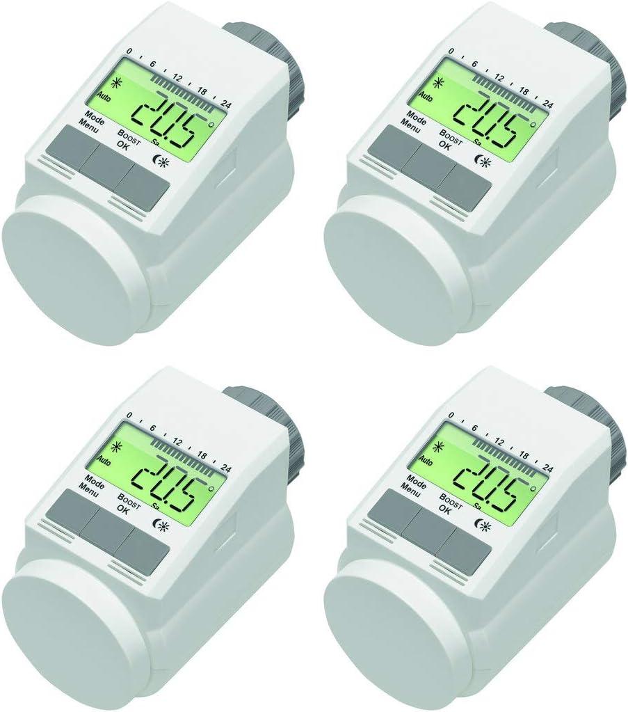Set f/ür 4/R/äume Typ L Pro Version mit stabiler Metallmutter sehr leise komforthaus ThermostatClassic