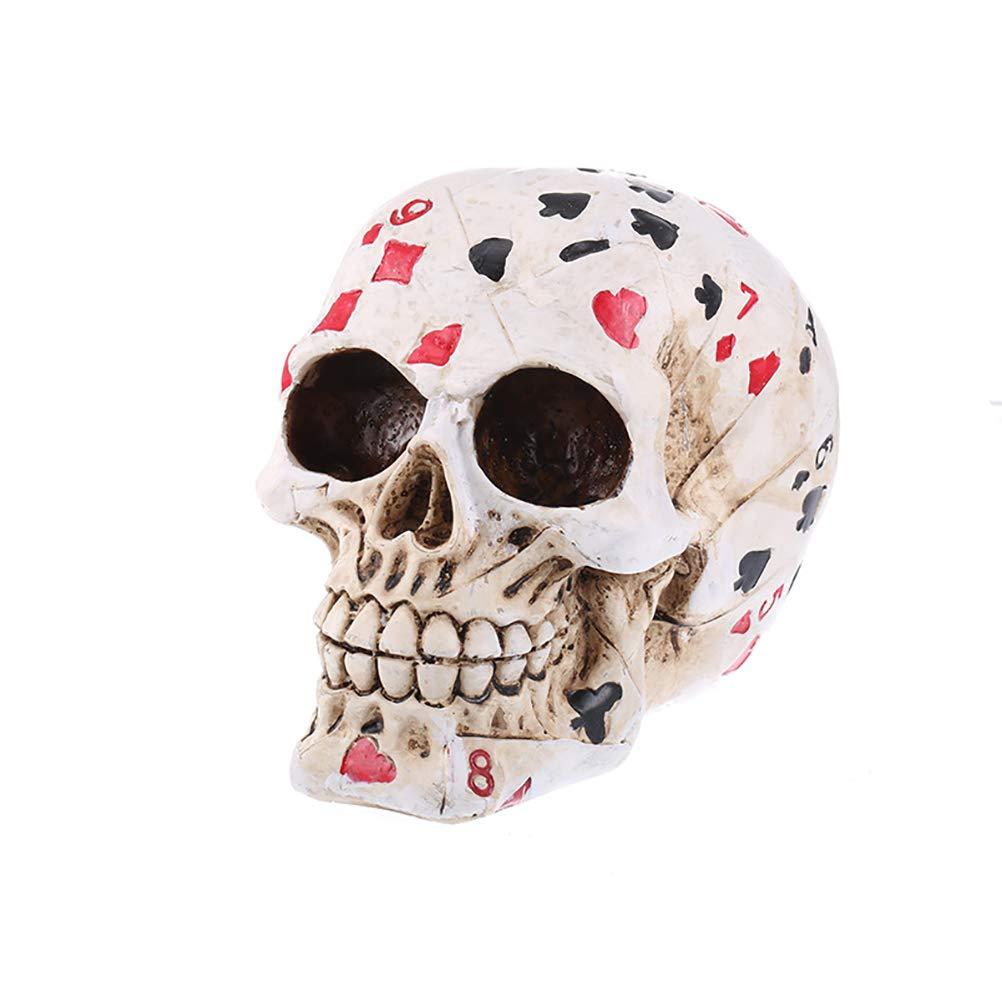 Póquer Cara Tatuaje cráneo Juego Esqueleto Ace Tarjetas Halloween ...