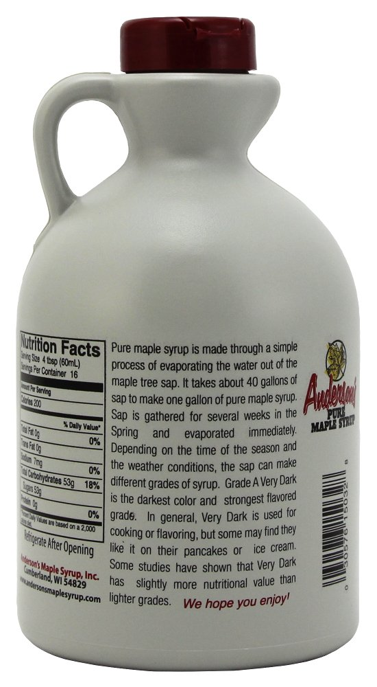 Anderson's Pure Maple Syrup, Grade A Very Dark/Grade B, 32 Ounce (Frustration Free Packaging) by Anderson's (Image #2)