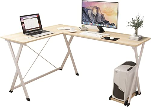 SogesPower L-Shaped Corner Computer Desk