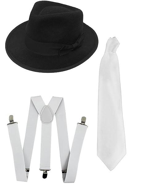 obtenir de nouveaux économiser jusqu'à 80% acheter pas cher Accessoires déguisement gangster Ensemble noir ou blanc ...