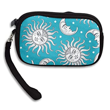 Mandala Sun and Moon Portable Washable Wristlets Bag Clutch Wallets, Change Purse,Coin Purse Zipper Small Wallets Pouch: Amazon.es: Equipaje