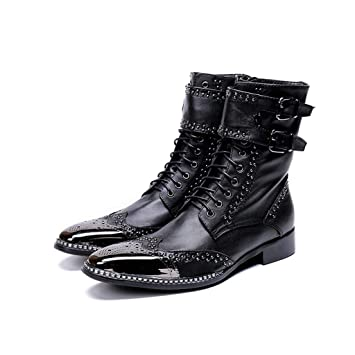 Mr.Zhangs Art Home Mens shoes Botines Negros Puntiagudos ...