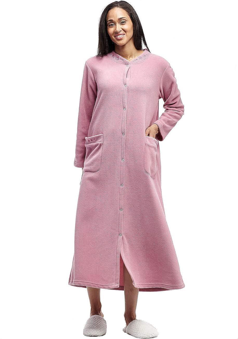 La Cera Women's Snap Front Robe Plus Size 8896X-1X-MAUVE