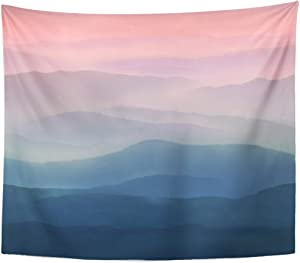 TOMPOP Tapestry Gray Hazy Pastel Sky in Watercolor Blue Pink High Resolution Landscape Scene Home Decor Wall Hanging for Living Room Bedroom Dorm 50x60 Inches