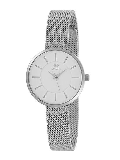 Reloj Marea Analógico Mujer B41246/1 Extraplano, con Armis de Acero y Esfera Blanca: Amazon.es: Relojes