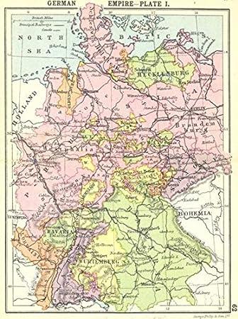 Germany Deutsche Empire Plate Ich Kleine Karte 1912 Old