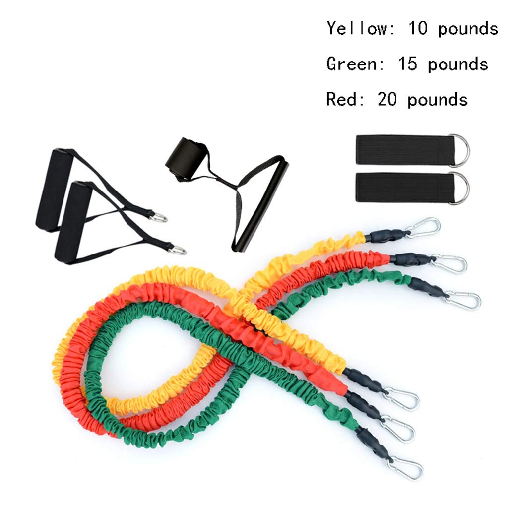 Indoor Resistance Rope Elastic Rope Gym Pull Rope Multifunction Fitness Equipment On The Door Pull Equipment Body Sculpting LIUJUNFANG LiuJF Suit Rubber Band Tube