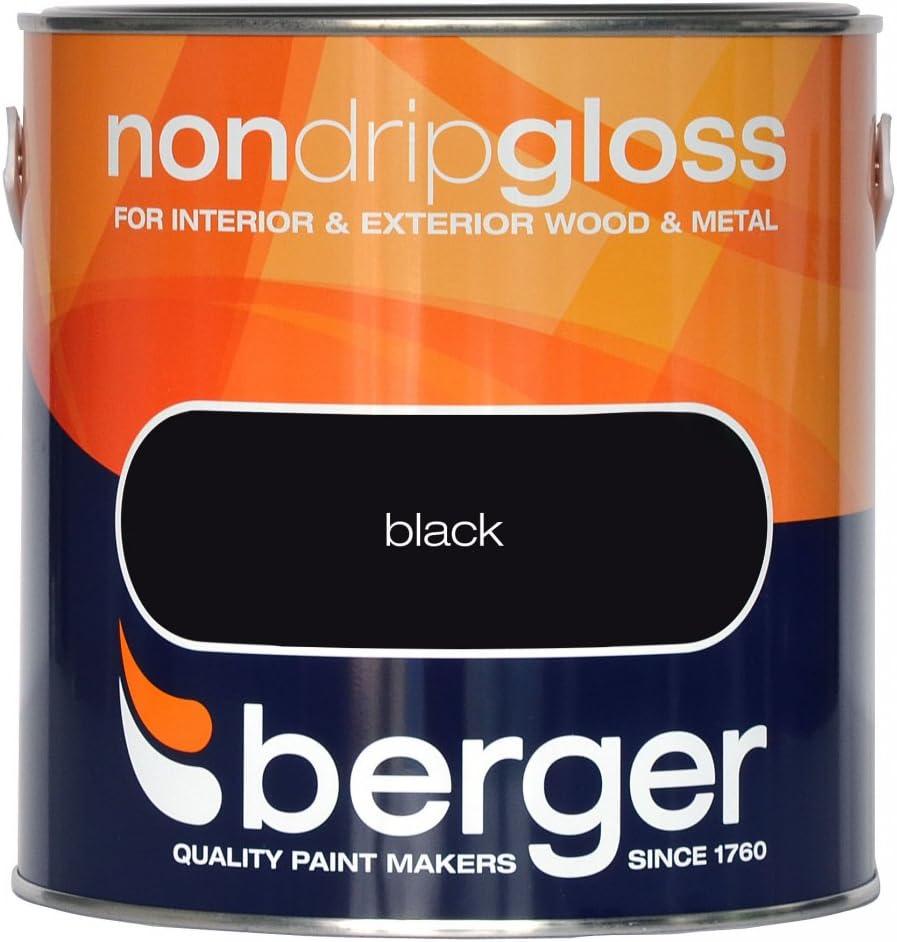Berger Peinture anti-goutte Blanc brillant//Noir Plusieurs couleurs toutes les tailles//stock/ées