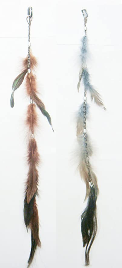 Opt Brand 2 X Colored Feather Hair Extensions Grizzly Hair Extension Clip In On Beauty Salon Supply Wholesale Lot New