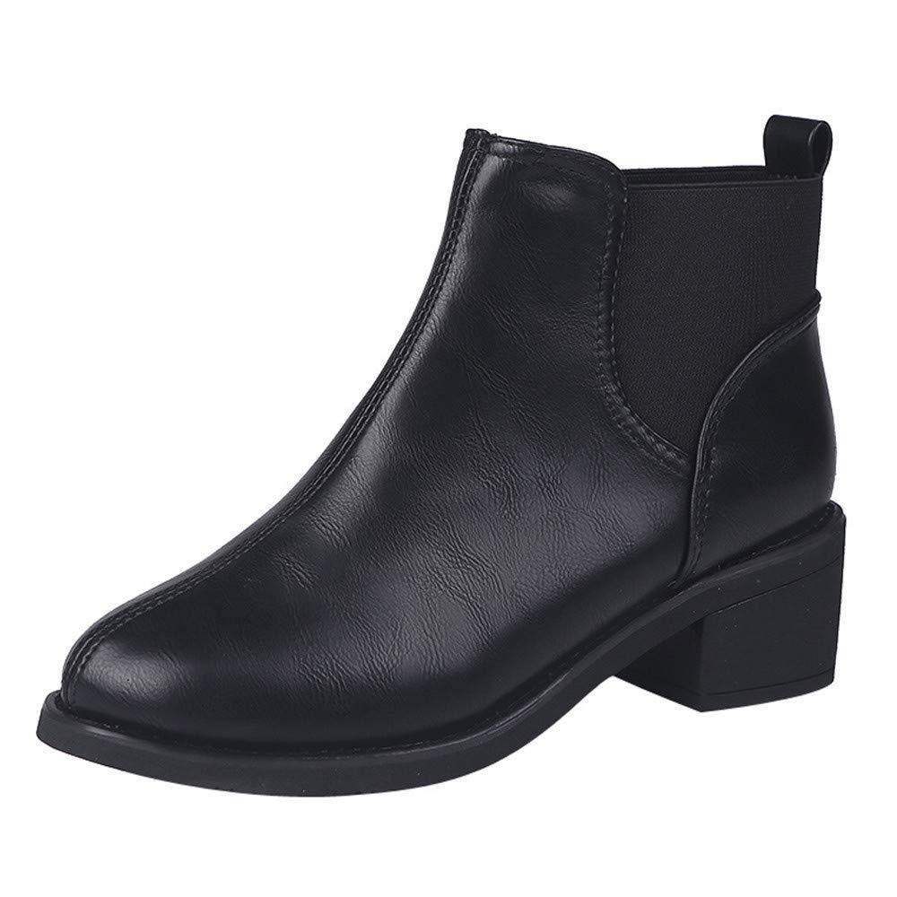 Zapatos De Mujer, RETUROM Botas De Mujer Botines Mujer Invierno OtoñO Negro Plano Pierna Alta Ante Casual Largo Alto Botas De Color SóLido Plana Martin Altas Botas Largas Zapatos Casuales