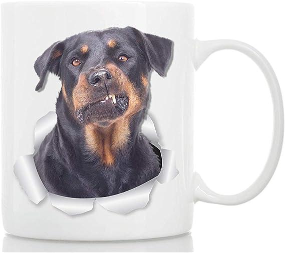Rottweiler Taza de café Taza de cerámica para perros ...