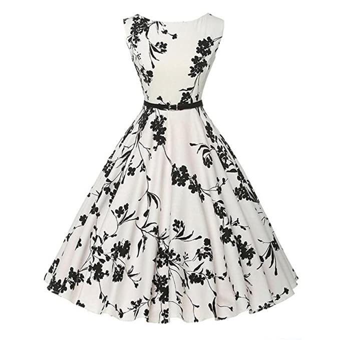 Damen Kleider Elegant, Dasongff Damen Vintage 50er Jahre Rockabilly ...