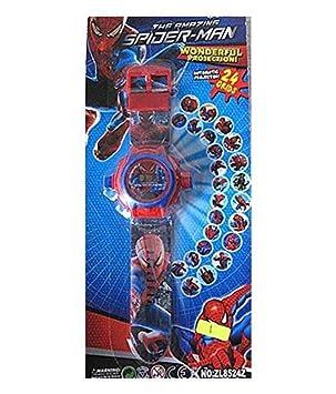 buycrafty Spider-Man Cartoon imágenes Proyector Reloj Niños Reloj Muñeca de personajes de dibujos animados watch15188919187677: Amazon.es: Deportes y aire ...