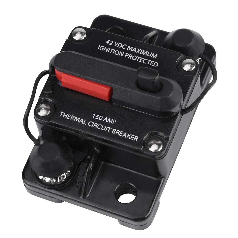 Alftek dc12 V-42 V 50 a-300 a auto stereo audio Inline reset interruttore di ripristino manuale 100a