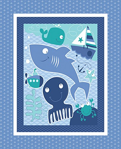 Nursery Seawater Friends Fabric by the Panel