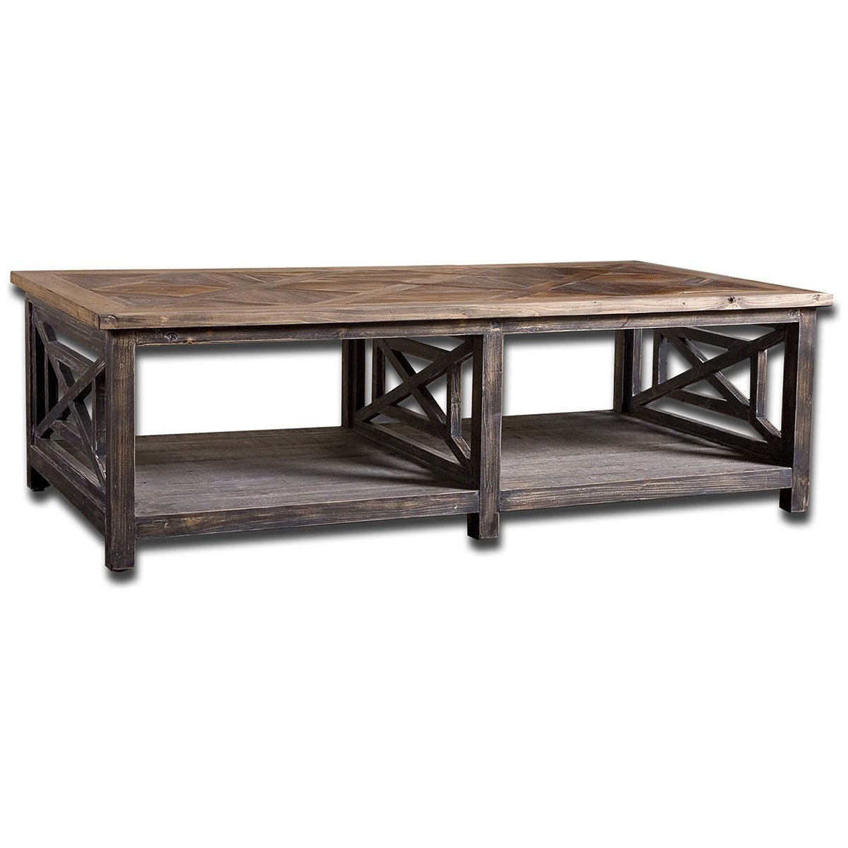 Amazon.com: Uttermost 24264 Spiro Reclaimed Wood Cocktail Table: Kitchen U0026  Dining