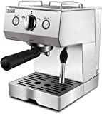 Espresso Machine Coffee Maker & Espresso Cappuccino Machine,Stainless Steel Machine with 15 Bar Pump,Powerful Milk Frother,For Barista Home Brewing,1050W