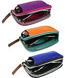 JAVOedge [5 PACK/2 PACK/1 PACK] Felt Slip In Eyeglass Cases with Microfiber Cloth for Sunglass & Reading Glasses
