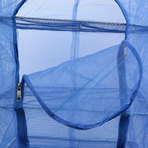 Carrying Non Netting Blue Net 8X13 Dry Rack Mesh Food Nylon 13 Receive Drying 35X35cm Storage Layer Bag Dehydrator Hanging 8inch Collapsible 3 toxic aAq5I5