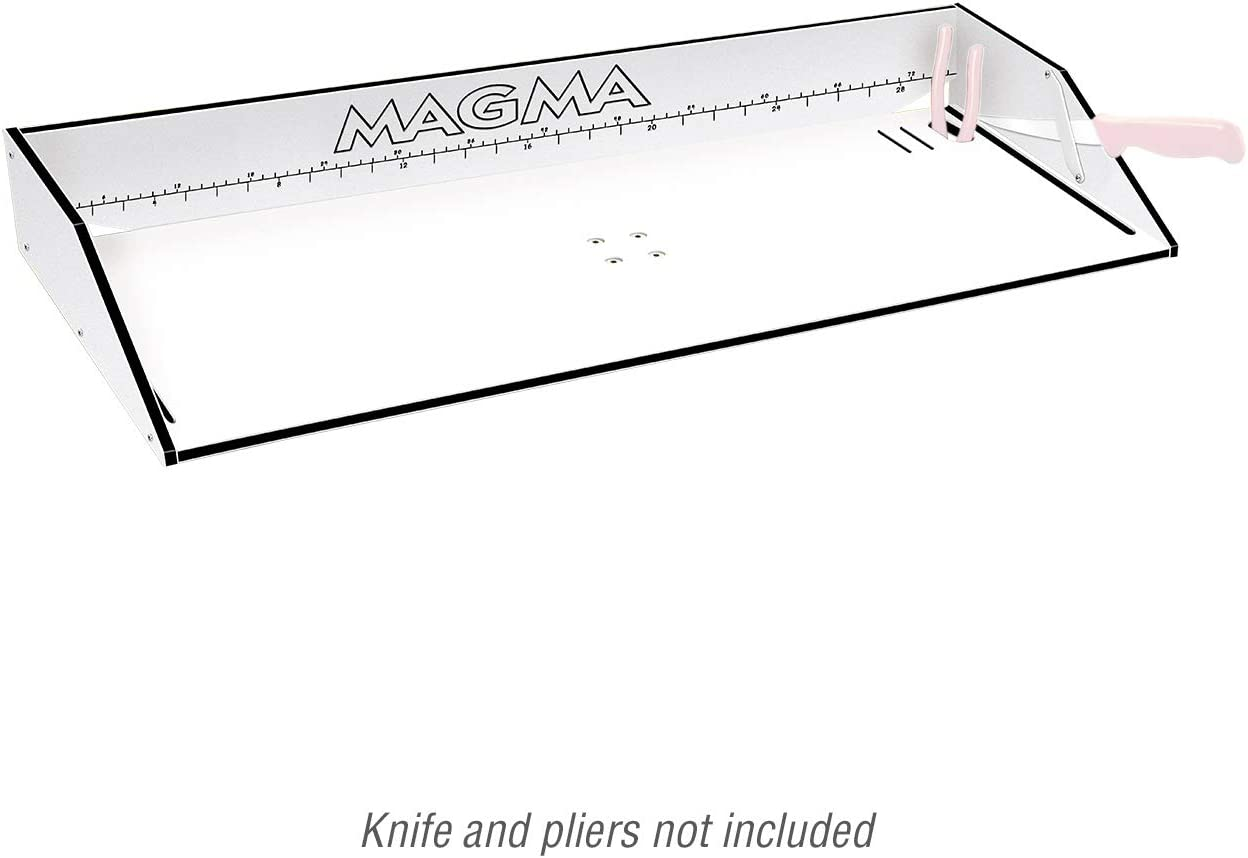 Magma Products Bait Filet Mate Table, White Black White, 31
