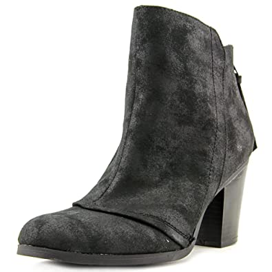 Womens Jillian Leather Round Toe Ankle Fashion Boots