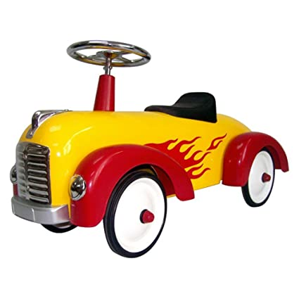 Amazon Com Toddler Hot Dog Speedster Yellow Red Flames 891y Toys