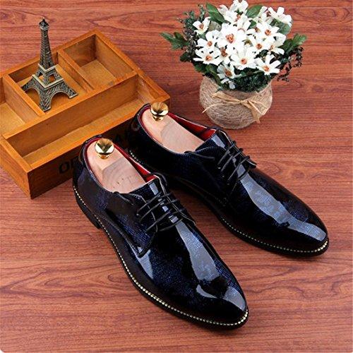 Imprime Design Mens Des Casual Affaires Dress Floral Nouveau Bleu Bling Shoes Bureau Imprime Pointu rqwz4raxE