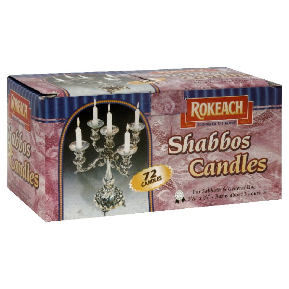 Rokeach Shabbat Candles,72-count (Pack of2)