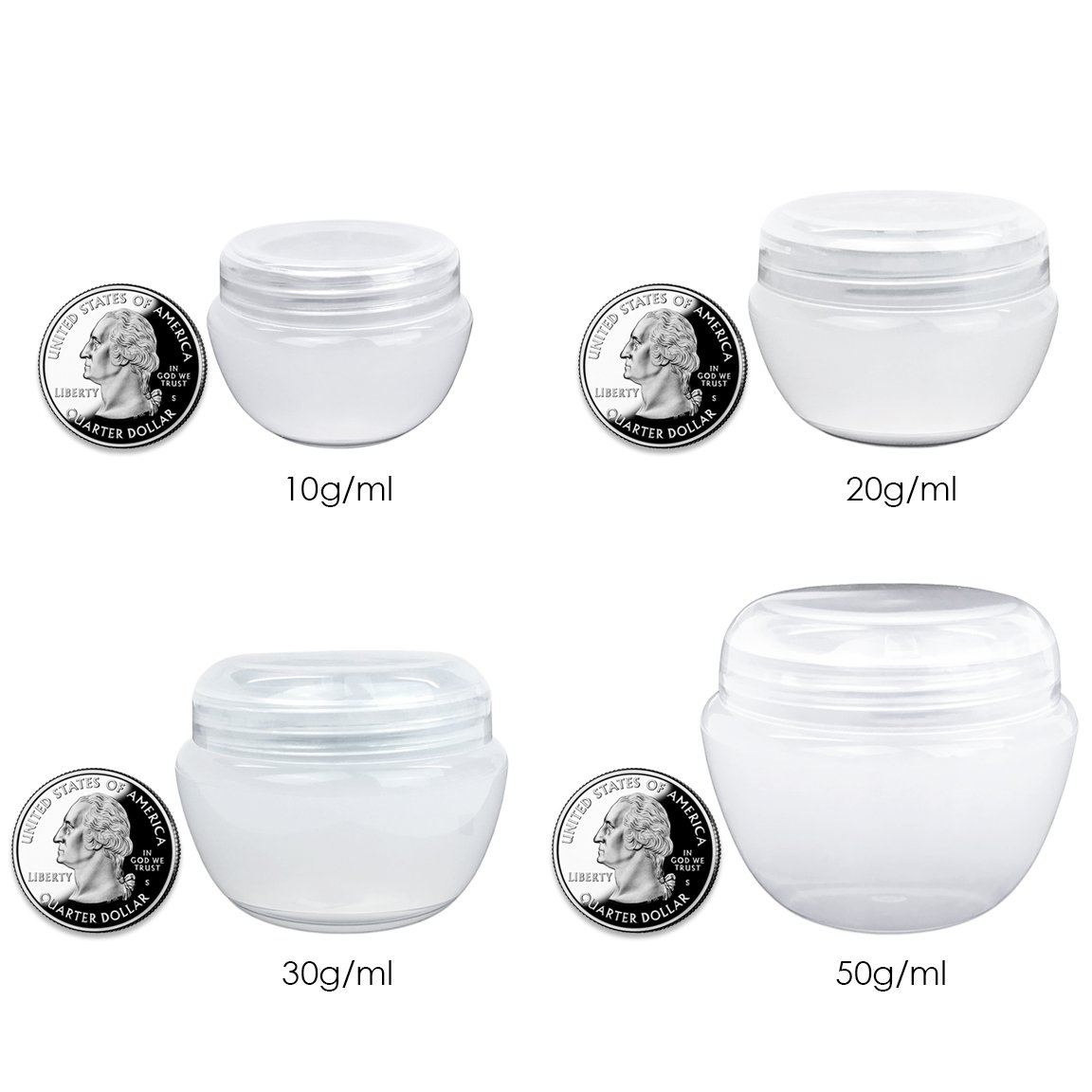 Beauticom 10G/10ML Frosted Container Jars with Inner Liner for Scrubs, Oils, Salves, Creams, Lotions, Makeup Cosmetics, Nail Accessories, Beauty Aids - BPA Free (72 Pieces, Pink) by Beauticom
